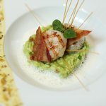 Grilled Canadian Scallops & Sweet Pea Risotto