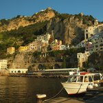 Catching the ferry from Amalfi to Capri