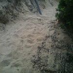 viottolo che porta alla spiaggia