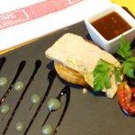 Appetizer: Foie gras on mango tart