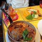 Cassoulet, and salmon plat du jour