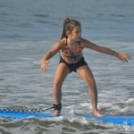 Genevieve loved surfing
