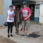the two of us with simons horse