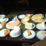 Le plateau de fromages inclus dans les menus