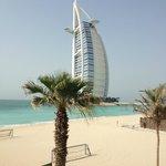 View of Burj Al Arab from pool bar