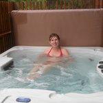 Lovely hot tub
