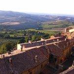 View from Montepulciano  2km drive from La Bruciata