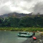 rafting at Spencer Glacier
