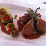superb lamb and vegetables