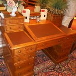 writing desk in lounge