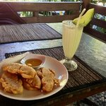 Pisang goreng at Cafe Garam