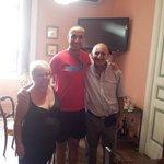 Con Luciano y Rosaria