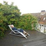 calme sur la terrasse
