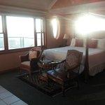 ocean view & bed