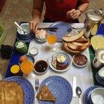 Petit-déjeuner, très copieux