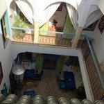 Vue sur la cour du Riad