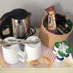 Well stocked tea & coffee tray