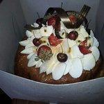 cake from peche