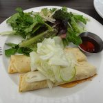 crepe with fennel, ricotta and apple