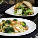 Chicken & Broccoli Over Linguini
