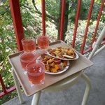 Wine and cheese in the treetops