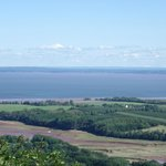 View of Minas Basin and Valley farmland