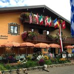 Front of the hotel, ready for Oktoberfest.