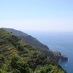 View over Cinque Terre