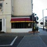 Fachada lateral restaurante