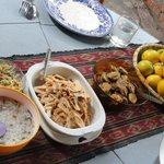 Lunch van ingrediënten uit de jungle