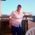 eccomi sul terrazzo dell'hotel torino