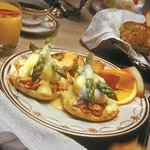 Eggs Benedict with a growing reputation as the very best in the Eastern Townships