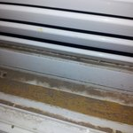 Dirt on sealed shutters