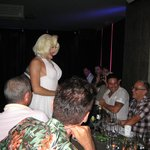 Marylin serenades the diners