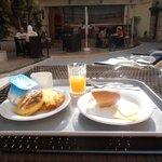 My breakfast poolside