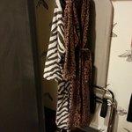 Bathrobes in closet
