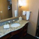 Roomy Sink & Dressing Room