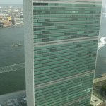 View of UN HQ from room - no one can see us up here!