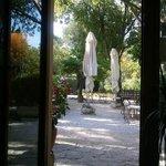 vista desde el restaurante a la terraza