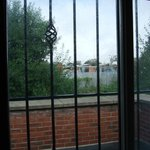The Barred windows of our room!