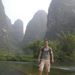 Mr.Drew at Yangshuo.