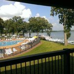 View of Lake Delavan & pool