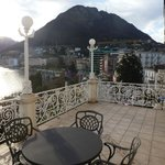 Huge terrace in classic lakefront room