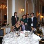 elegant family dinner in La Veranda Restaurant