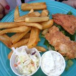 grilled salmon fish & chips