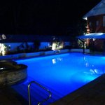 Pool was great and looked amazing at night