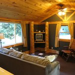 Deluxe Cabin #15 (Living room w/dinning table on right)