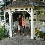 Gazebo in the garden area