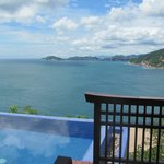 view from pool in villa