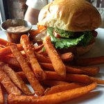 Grilled Chicken Club, Sweet Potato Fries